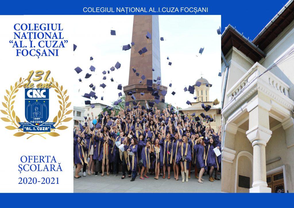 Pliant Ofertă școlara - liceu - an școlar 2020-2021 - exterior