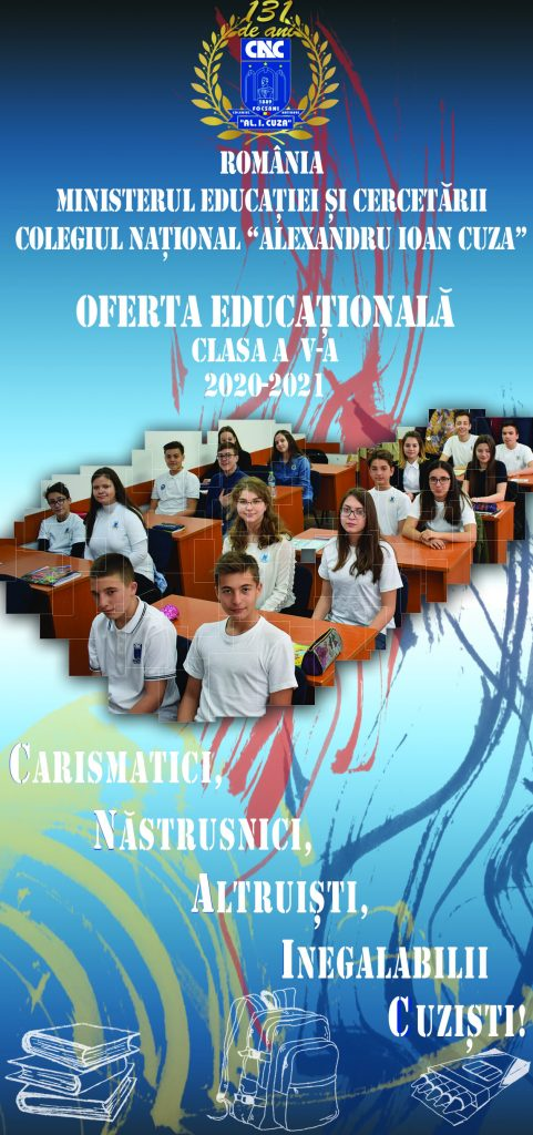 Flyer ofertă scolara - gimnaziu-an scolar 2020-2021-fata